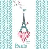 Paris kort Arkivbild