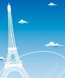 Paris kort som symbolförälskelse Arkivbild