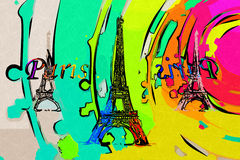 Paris-Kunstdesignillustration Stockfotos