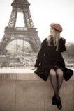 paris kvinna Arkivfoton