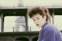 paris kvinnabarn Arkivfoton