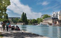Paris - l'été du canal Photos libres de droits