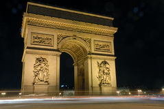 Paris, l'arc de triomphe Stock Images