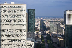 Paris la defense. From the sky Stock Image