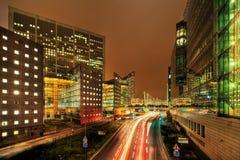 Paris, La Defense, at night Stock Images