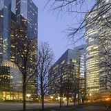 Paris La Defense at night Stock Photo