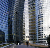 Paris La Defense at night Royalty Free Stock Images