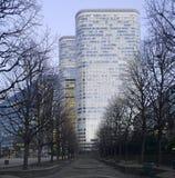 Paris La Defense at night royalty free stock image