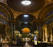 Interiors and details of La Madeleine Church - Paris - France Stock Photography