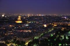 Paris la nuit Image libre de droits