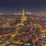 Paris la nuit Image stock