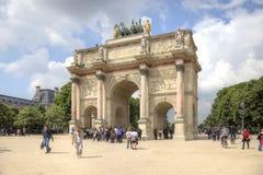 paris La petite voûte triomphale est dans les jardins de Tuileries Image stock