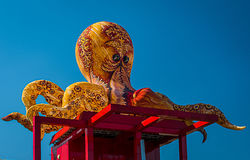 Paris, La Villette, Octopus by `Les Plasticiens Volants` Stock Photo