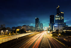 Paris LaDefense in sunset time, France Stock Image