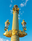 Paris Lamp Post Stock Photo