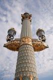 paris lampowa ulica Zdjęcia Royalty Free