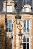 Paris Lamps Place des Vosges Stock Photography