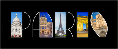 Paris Landmark Logo Royalty Free Stock Photography