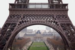 Paris landmark sightseeing: Eiffel Tower Stock Photo