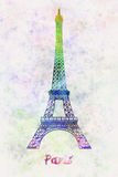 Paris Landmark Tour Eiffel in watercolor Royalty Free Stock Image