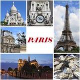 Paris landmarks collage Royalty Free Stock Photos