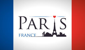 Paris Landmarks design Royalty Free Stock Photography
