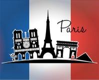 Paris Landmarks design Royalty Free Stock Image