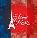 Paris Landmarks design Stock Photo