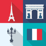 Paris Landmarks design Royalty Free Stock Photos