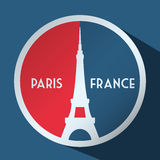 Paris Landmarks design Stock Image