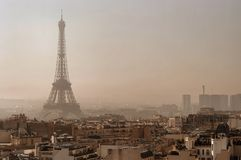 Paris landscape royalty free stock image