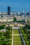 Paris landscape - champ de mars Royalty Free Stock Photo
