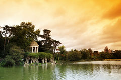 Paris landscape, Daumesnil lake Stock Photos