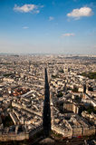 Paris landscape. From the Montparnasse tower Royalty Free Stock Photography