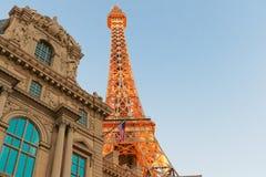 Paris Las Vegas est un lieu de villégiature luxueux et un casino sur la bande de Las Vegas Image stock