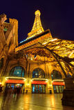 The Paris Las Vegas hotel and casino and Eiffel Tower royalty free stock photography