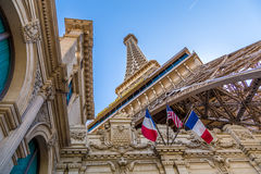 Paris Las Vegas hotel and Casino featured with the theme of Paris in France in Las Vegas, Nevada Royalty Free Stock Photo