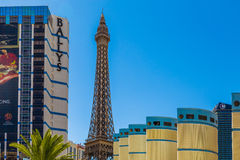 Paris Las Vegas hotel and Casino featured with the theme of Paris in France in Las Vegas, Nevada Stock Photography