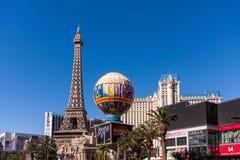 Paris Las Vegas hotell och kasino i Las Vegas, Nevada Arkivbild