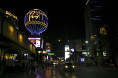 Paris Las Vegas Nevada Streets Night Time Scene royalty free stock photography