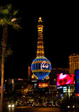 Paris Las Vegas at night in Las Vegas, Nevada, USA Stock Image