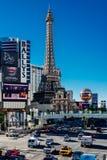 Paris Las Vegas turnerar den Eiffel restaurangen Fotografering för Bildbyråer
