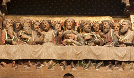 Paris - Last supper of Christ from Notre Dame Royalty Free Stock Photography