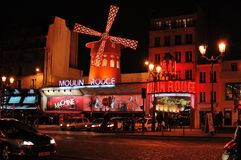 Paris, le Moulin rouge Photos stock