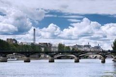 Paris - le Pont des Arts Photo stock