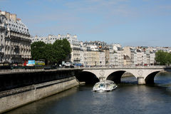 Paris, Left Bank of the Seine Stock Photos