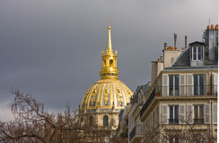 Paris Les Invalides apartment buildings Royalty Free Stock Images