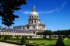 Paris: Les Invalides Church & Gardens Stock Photo