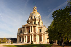 Paris, Les Invalides, famous landma Stock Photos