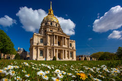 Paris, Les Invalides, famous landma Stock Photography